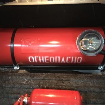 Цилиндрический баллон объемом 60 литров