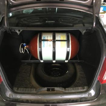 Металлокомпозитный баллон объемом 80 литров