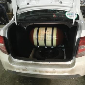 Металлокомпозитный цилиндрический баллон объемом 80  литров