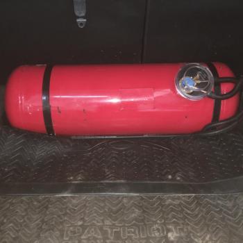 Цилиндрический баллон объемом 100 литра